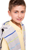 Boy posing over white Royalty Free Stock Images