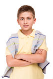 Boy posing over white Royalty Free Stock Image
