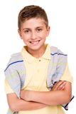 Boy posing over white Stock Image