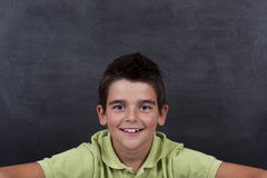 Boy posing at school Royalty Free Stock Image