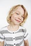 Boy posing in studio Stock Images