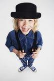 Boy posing in studio Royalty Free Stock Photos