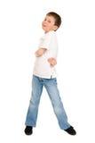 Boy posing on white Stock Photo