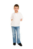 Boy posing on white Stock Photos