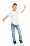 Boy posing on white Royalty Free Stock Image