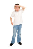 Boy posing on white Stock Photography