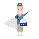 Boy postman Royalty Free Stock Photography