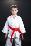 Boy practice karate Stock Photos