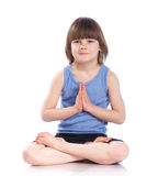 Boy practice yoga Royalty Free Stock Images