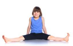 Boy practice yoga Stock Photography