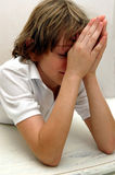 Boy in prayer Royalty Free Stock Photo