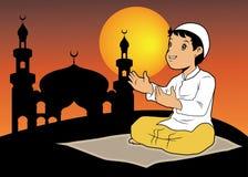 A boy praying Royalty Free Stock Images