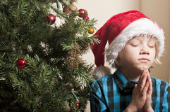 Boy praying Royalty Free Stock Images