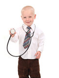Boy Prentending to be a Doctor Royalty Free Stock Photo