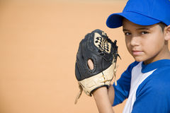 Boy preparing to pitch baseball Stock Photography