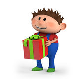 Boy with present royalty free stock photography