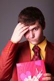 Boy with present box Stock Image
