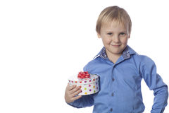 Boy and present Royalty Free Stock Images