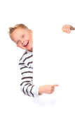 Boy presenting copy space Stock Photography