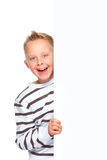 Boy presenting copy space Royalty Free Stock Images