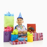 Boy with presents. Stock Image