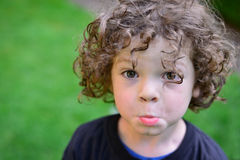 "Boy with the ""Pretty Please"" Pout Stock Photos"