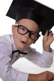 Boy prodigy. Raised thumbs up Royalty Free Stock Image