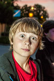 Boy pulls a face Stock Images