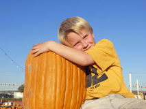 Boy pumpkin Royalty Free Stock Image