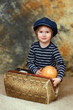 The boy with pumpkin Royalty Free Stock Photo