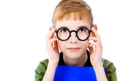 Boy pupil Royalty Free Stock Photos