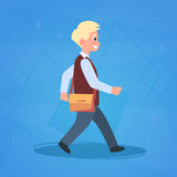 Boy Pupil Walking To School Schoolboy Small Primary Student Stock Photos