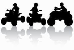 Boy on the quadbike Stock Image