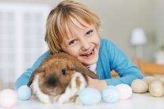 Boy with rabbit Royalty Free Stock Photos
