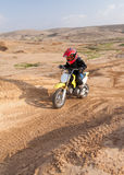 Boy racer  in the desert Stock Photo