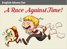 A boy racing against time Royalty Free Stock Photo