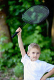Boy with a racket Royalty Free Stock Photography