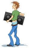 Boy with Radio Royalty Free Stock Photo