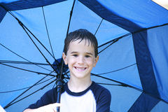 Boy in the Rain Royalty Free Stock Photo