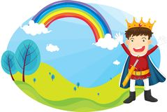 Boy and rainbow Royalty Free Stock Image