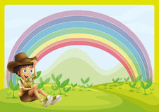 Boy and rainbow Royalty Free Stock Photos