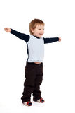 Boy with raised arms Stock Photography