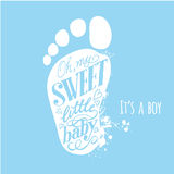 Boy rattle shower invitation in vector Royalty Free Stock Image