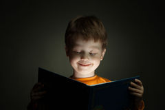Boy read book Stock Photo