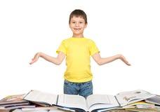 Boy read a book Stock Photos