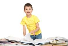 Boy read a book Stock Image