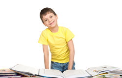Boy read a book Royalty Free Stock Photography