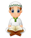 Boy read Quran the holy book of Islam. Illustration of boy read Quran the holy book of Islam Royalty Free Stock Photography