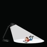 Boy reading vector illustration