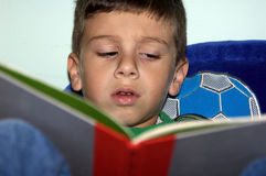 Boy Reading 2 Stock Photo